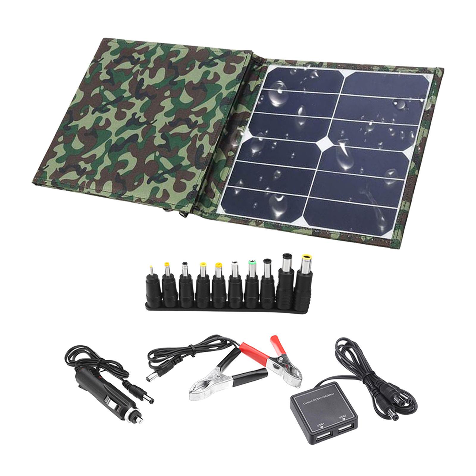 ألواح الطاقة الشمسية المحمولة 100 واط SunPower الألواح الشمسية لوحة شمسية قابلة للطي للسفر التخييم في الهواء الطلق