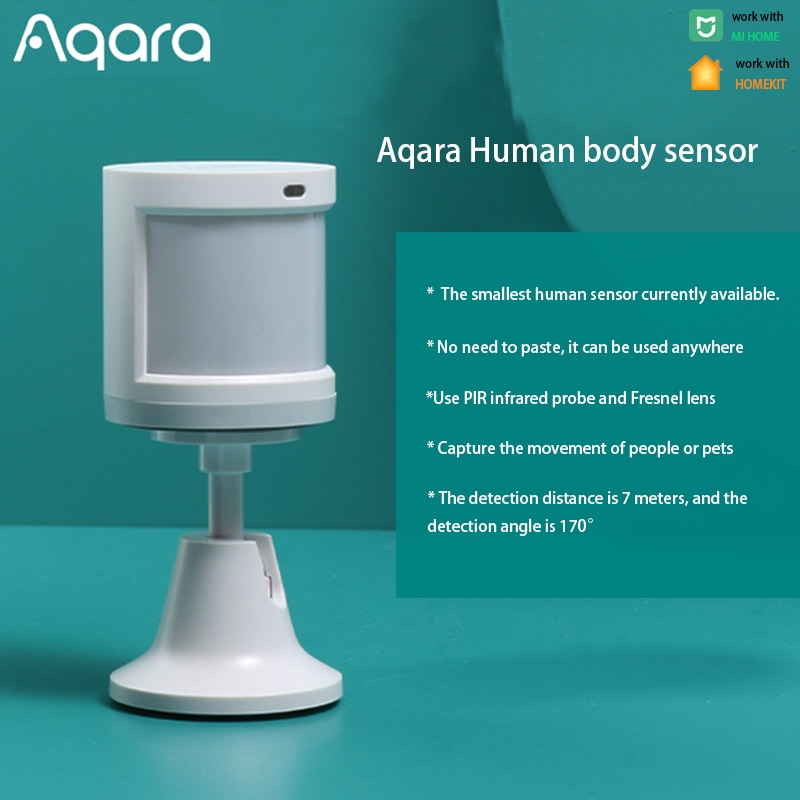 Aqara Smart Human Body Sensor Motion ZigBee Security Home alarm System Mini Wireless PIR Motion Detector For Xiaomi Mijia APP
