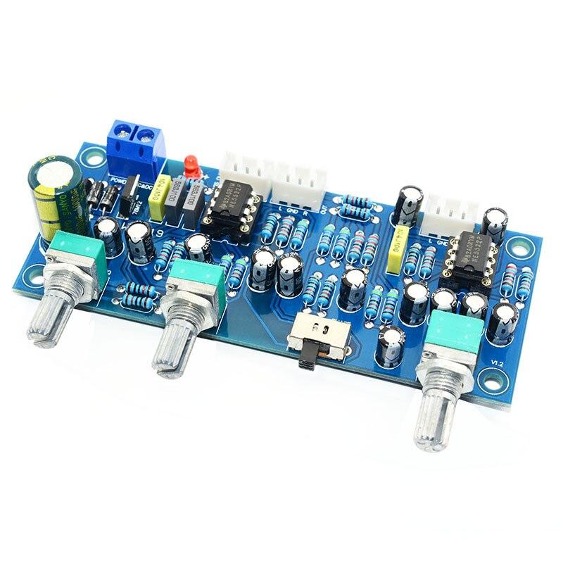 2.1 Channel Preamp Board HiFi Power Amplifier Board NE5532 Low Pass Filter Preamp Subwoofer Tone Board