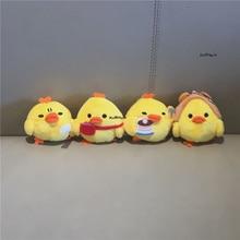 Küçük tavuk tasarımları, anahtarlık kolye peluş doldurulmuş oyuncak bebek, yumuşak peluş oyuncaklar buket