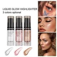 face liquid highlighter body glitter contour bronceador eyeshadow palette marca texto iluminador liquido base de maquillaje