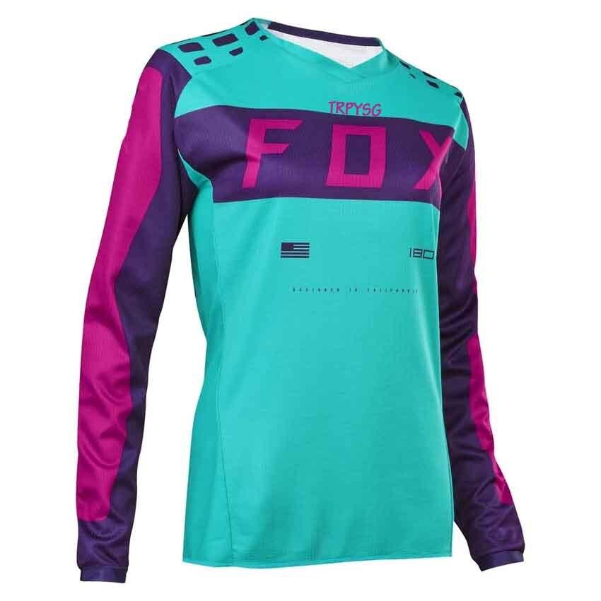 Maillot de equipo para mujer, camiseta de ciclismo de montaña todoterreno, camiseta de Motocross transpirable de secado rápido, largo