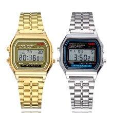 Luxury LED Digital Watch Hodinky Men Women Unisex Electronic Rose Gold Stainless Steel Watch Fashion Clock Gift Reloj Mujer