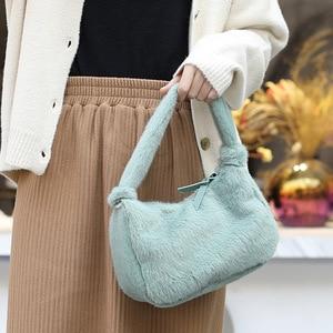 2020 New Women casual Winter Faux Fur Shoulder Bag Handbag lady Handbag Female Party Small Girls Tote Bag Christmas Gift