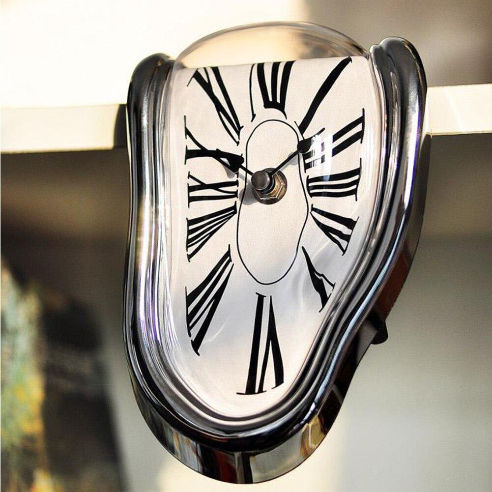 Novedoso Reloj de pared distorsionado de fusión surrealista Reloj de pared estilo Salvador Dalí increíble decoración del hogar regalo #25