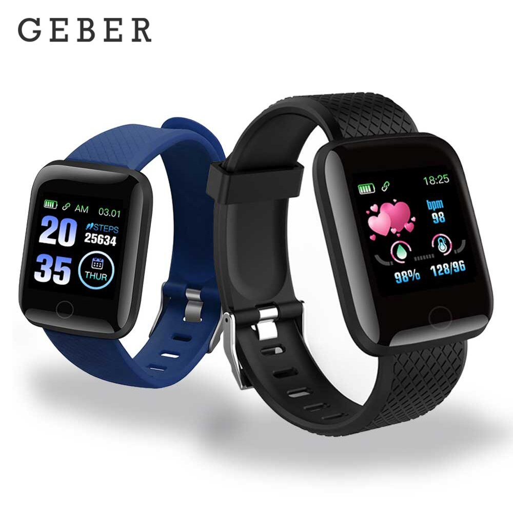 D13 Smart Watches 116 Plus Health Bracelet Heart Rate Smart Wristband Fitness Tracker Sports Watches Smart Band Waterproof
