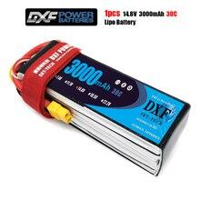 DXF li-poly batterie 14.8V 3000mAh 4S 30C MAX 60C 1/10 RC voiture Lipo Bateria Multicopter quadrirotor voiture de course traxxx fpv drone