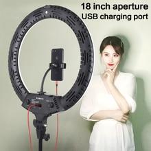 18 pouces Photo Studio éclairage LED anneau lumière 3200-5600K 65W 416 pièces photographie Dimmable anneau lampe avec 2M support pour maquillage, vidéo