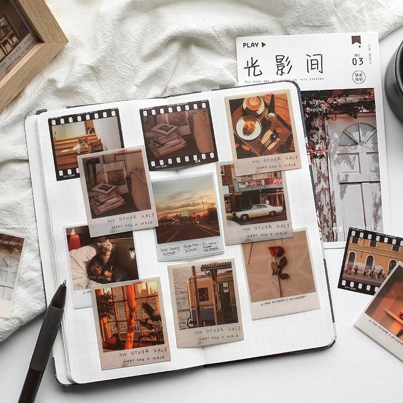 40-pz-pacco-tempo-serie-di-detriti-piccoli-adesivi-decorativi-scrapbooking-adesivo-di-carta-estetica-fiocchi-accessori-fissi