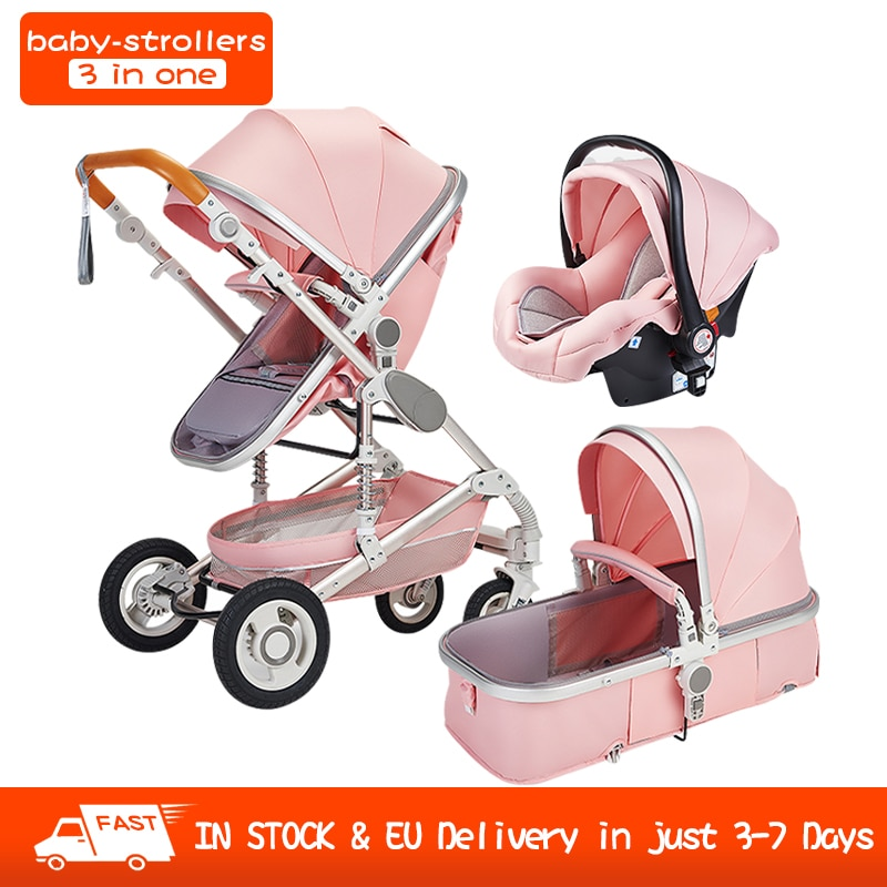2021 New 3 in 1 Multi-Functional high landscape stroller Baby Stroller Baby Pram Baby Trolley Folding Strollers Baby Carriage