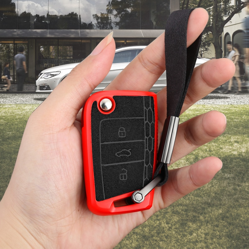 De TPU coche llave remoto caso funda, soporte para Volkswagen VW Tiguan...