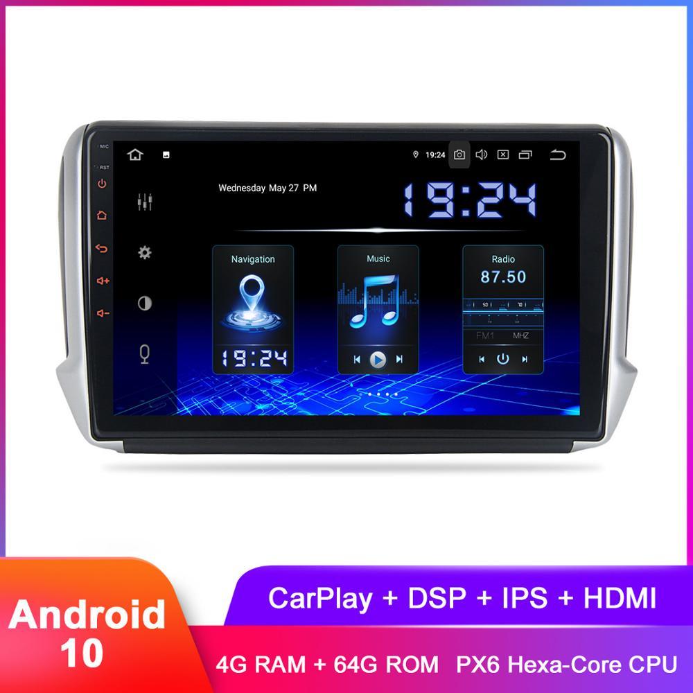 "10.2 ""IPS Display Android 10 Auto Stereo GPS Für Peugeot2008 208 2012 2013 2014 2015 2016 2017 2018 In dash Auto Radio DSP Audio"