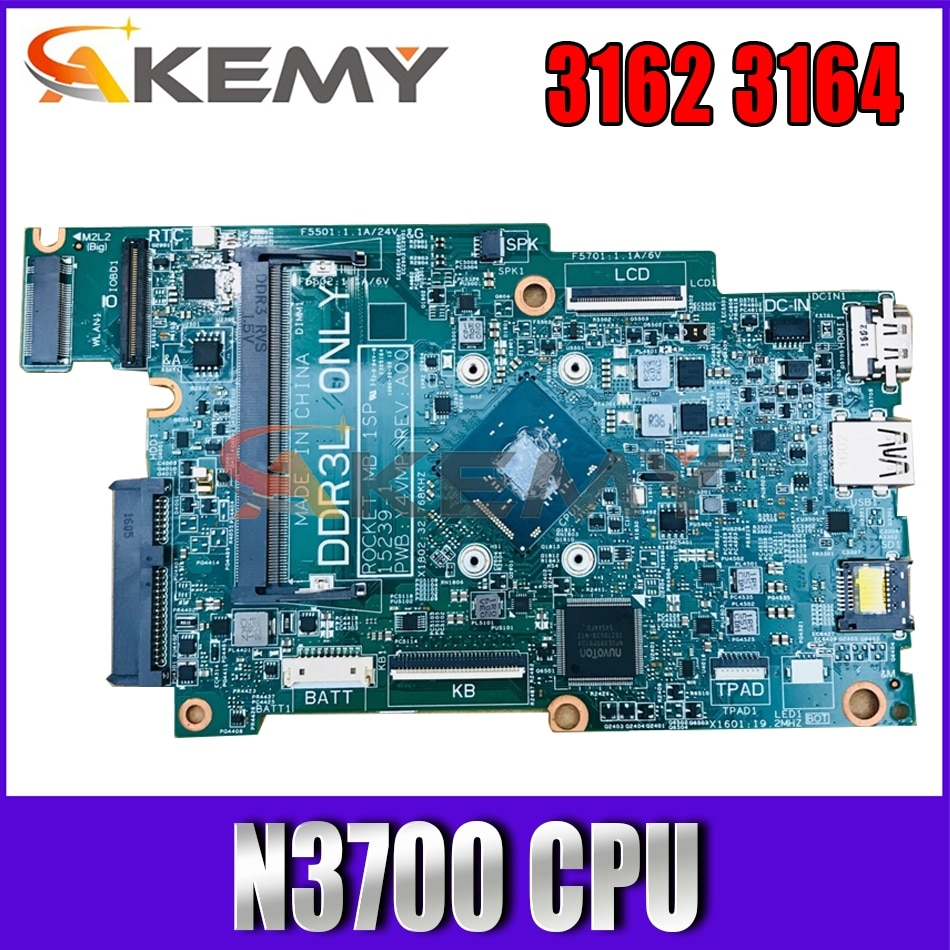 Akemy 15239-1 Y4VMP N3700 وحدة المعالجة المركزية لديل انسبايرون 11 3162 3164 اللوحة المحمول CN-067YYK 67YYK اللوحة 100% اختبار