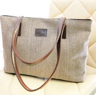 New winter College Wind canvas shoulder bag large hand bag simple fresh female student bag