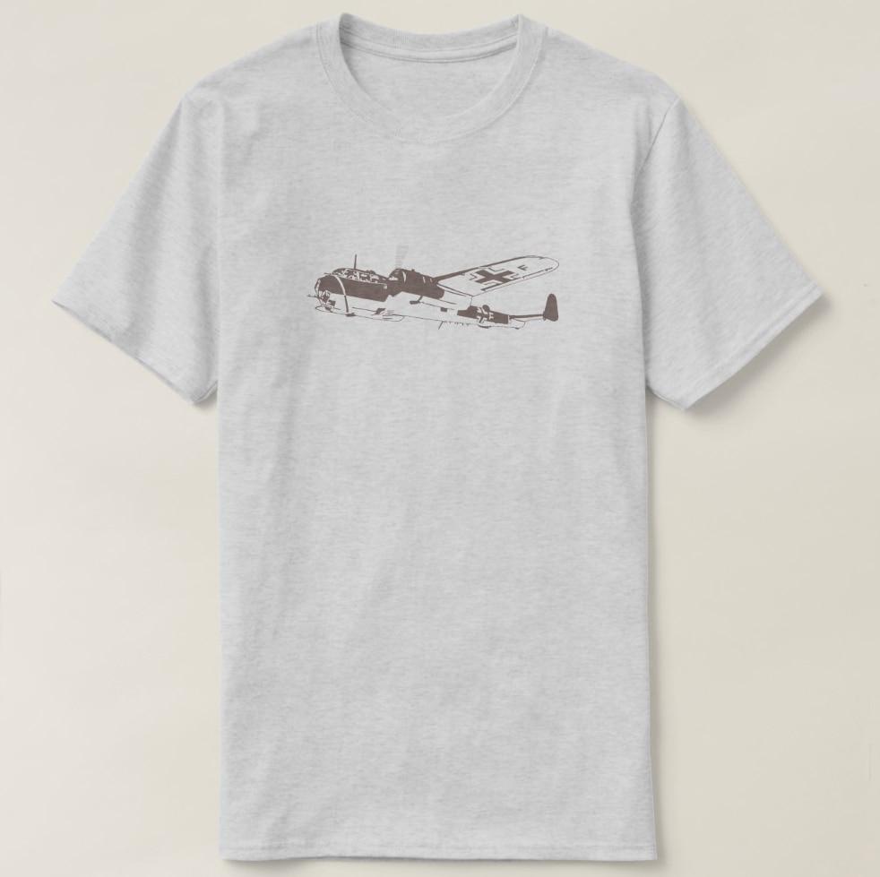 2019 hombres impresos Camiseta de algodón de manga corta Cool alemán Luftwaffe camiseta de avión mujeres camiseta