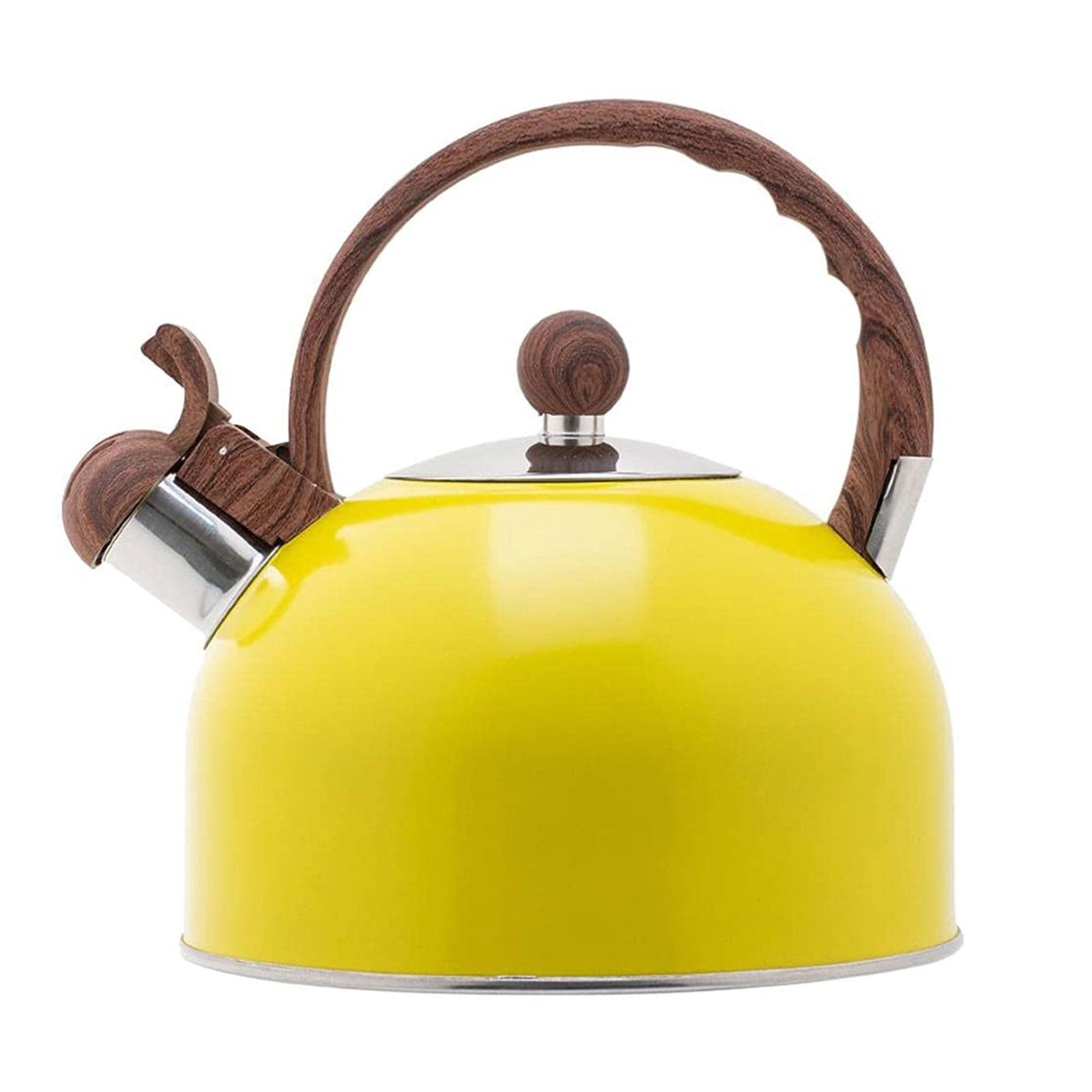 2.5L التعريفي طباخ الشاي المطبخ دائم الفولاذ المقاوم للصدأ صفير غلاية مع مقبض هدية آمنة خفيفة الوزن موقد غاز المنزل