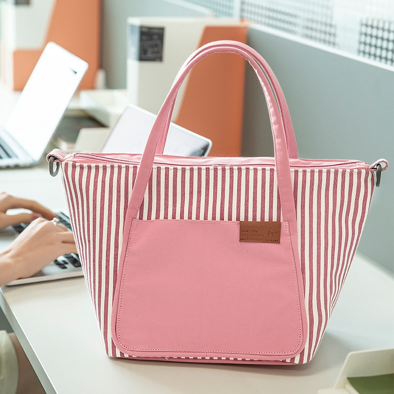 Вместительные сумки для ланча, водонепроницаемая сумка для еды и пикника, изолированная сумка для офиса, женские сумки-холодильники, Прямая...