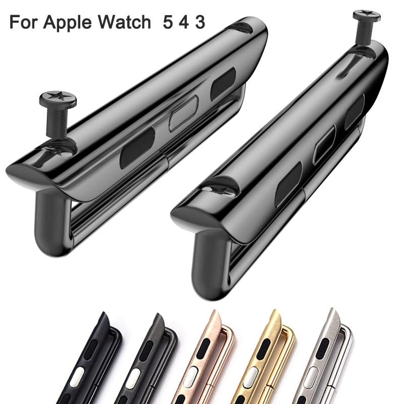 Adaptador conector para apple assistir série 5 4 3 2 banda 44mm 40mm para iwatch banda 42mm 38mm acessórios ferramenta atacado