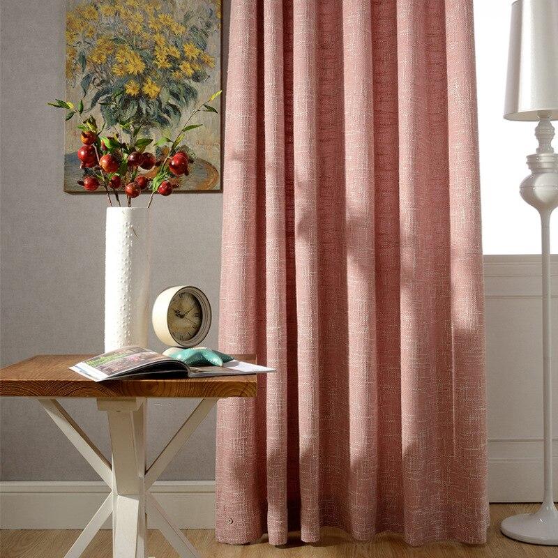 [Nanaka] cortinas para sala de estar, cortinas de dormitorio modernas minimalistas europeas, cortinas de Color sólido, cortinas de arpillera