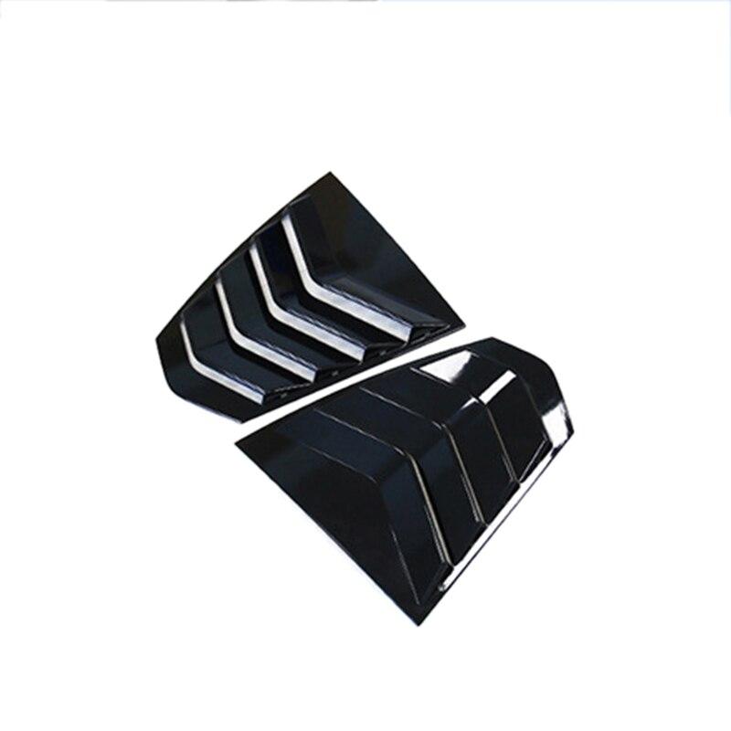 Ventana trasera Triangular negro brillante para BMW G20 G28 2019 2020 320 3 Series persianas ventana Triangular protección cubierta Coche