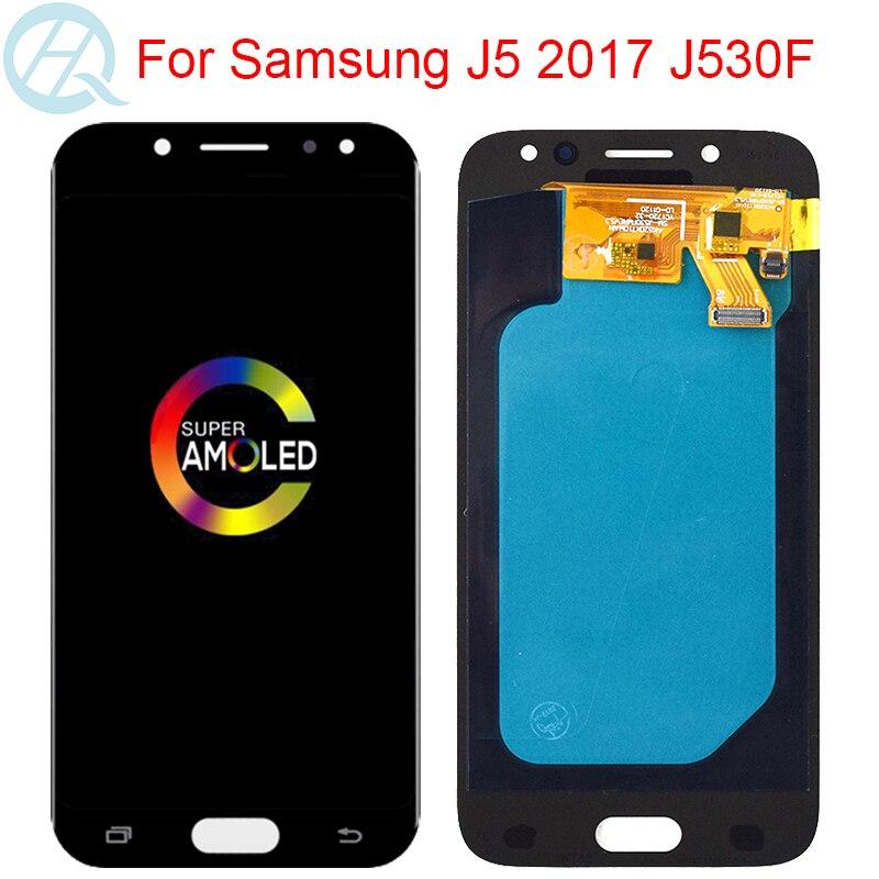 شاشة LCD AMOLED مقاس 5.2 بوصة لهاتف سامسونج جالاكسي J5 برو 2017 J530F J530FN J530G/DS مع إطار شاشة تعمل باللمس مجمع رقمي