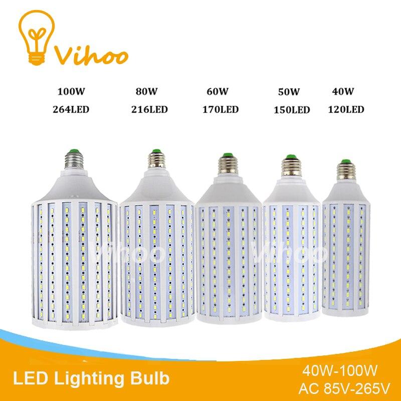 Alta Potencia 40W 50W 60W 80W 100W bombilla de iluminación Led E27 E40 lámpara de ahorro de energía lámpara de mesa de jardín