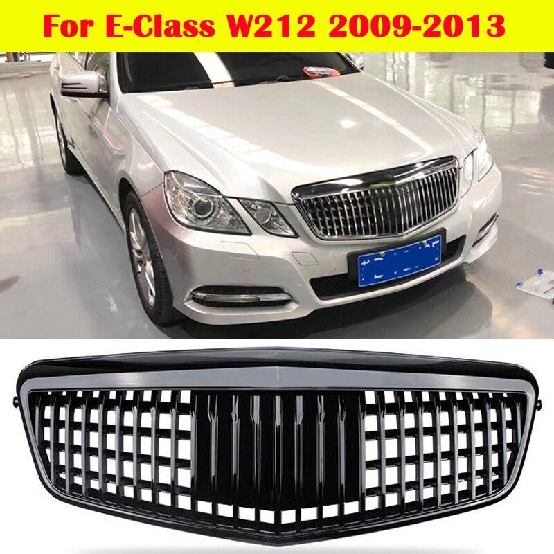 مركز شواء العمودي شريط لمرسيدس-بنز الفئة E W212 سيارة التصميم الأوسط مصبغة تعديل ل مايباخ نمط الوفير 2009-2013