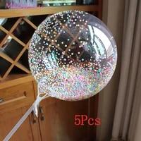 5pcs 12182024inch transparent balloon colorful bubble balloon birthday party wedding decoration anniversary bobo ball