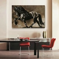 black horse hd spray painting home wall art decorative painting living room background wall hanging pictures dropshipping