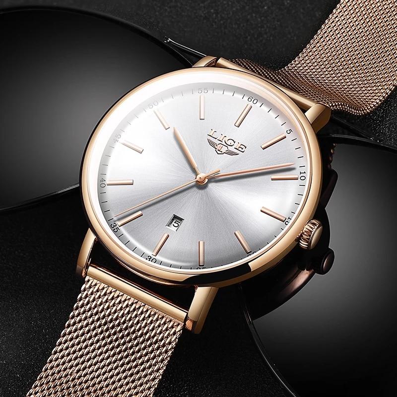 New LIGE Rose Gold Women Watch Business Quartz Watch Ladies Top Brand Luxury Female Wrist Watch Girls Clock Relogio Feminin+Box enlarge