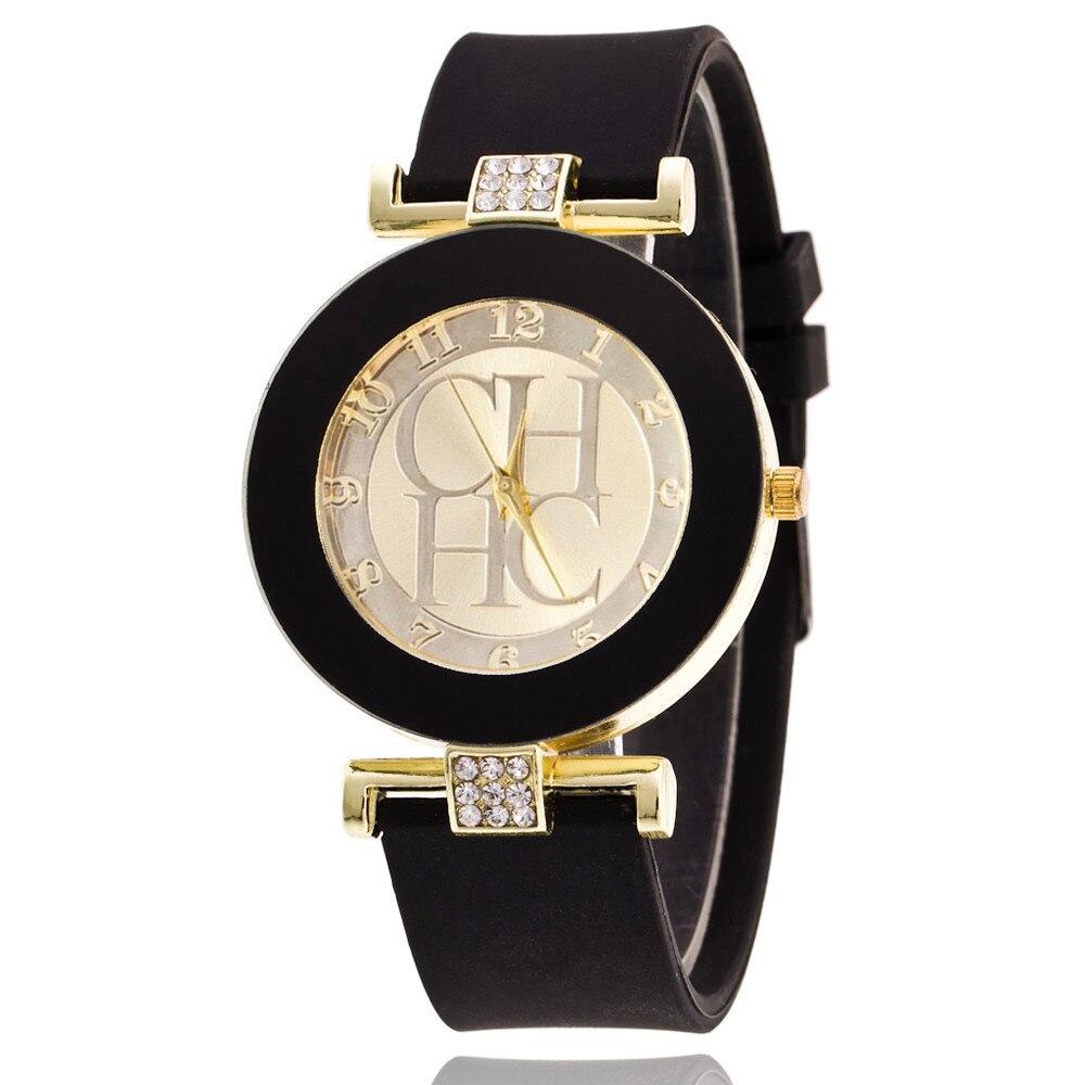 Hot Sale New 2019 Luxury Ladies Women's Casual Quartz Silicone strap Band Watch Analog Wrist Watch R