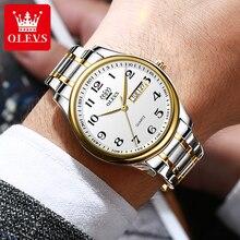 OLEVS Men Watches Luxury Brand Man Watch Fashion Gold Stainless Steel Quartz Wrist Watch For Men Cas