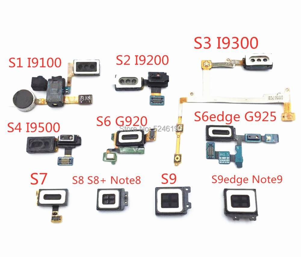 1 Uds oreja altavoz del auricular cable Flex para Samsung Galaxy S1 S2 S3 S4 S6 S7 S8 S9 borde Note8 Nota 9 auriculares Audio Jack de vibrador