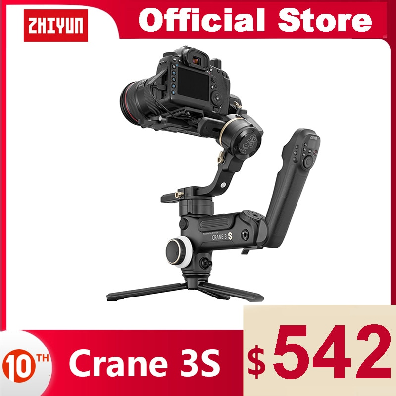 ZHIYUN Crane 3S/Crane 3S-E الرسمية رافعة 3S/رافعة 3S-E 3-محور مثبت يدوي للتمديد الذراع حمولة 6.5 كجم ل DSLR كاميرا كاميرات فيديو Gimbal