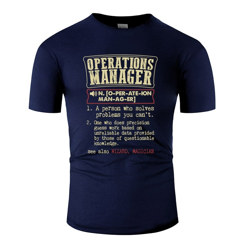 Engraçado gerente de operações engraçado dicionário termo masculino bad t camisa 2020 t camisa plus size S-5xl camisetas gráficas