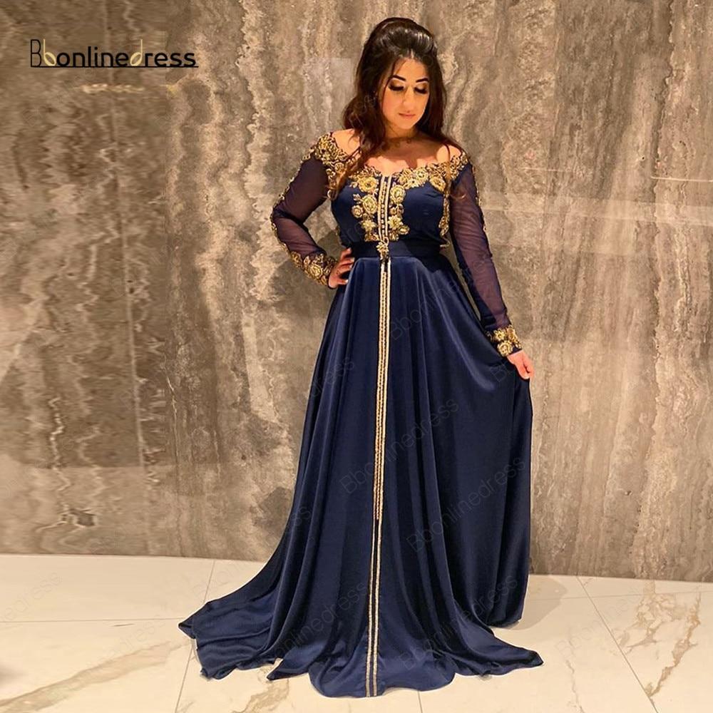 Bbonlinedress, vestidos de noche musulmanes 2020, caftán bordado árabe, ropa para mujer, vestido de fiesta, vestidos de noche Dubái, Túnica de soiree