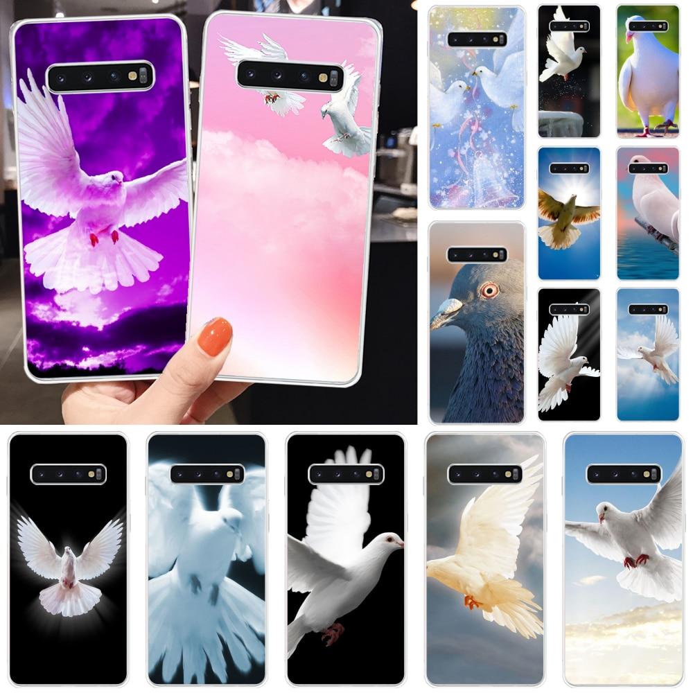 Reayou paloma de la paz de lujo diseño único teléfono cubierta para Samsung S10 S10 Plus S9 S9 Plus S8 S8plus S7 S6 fundas móviles