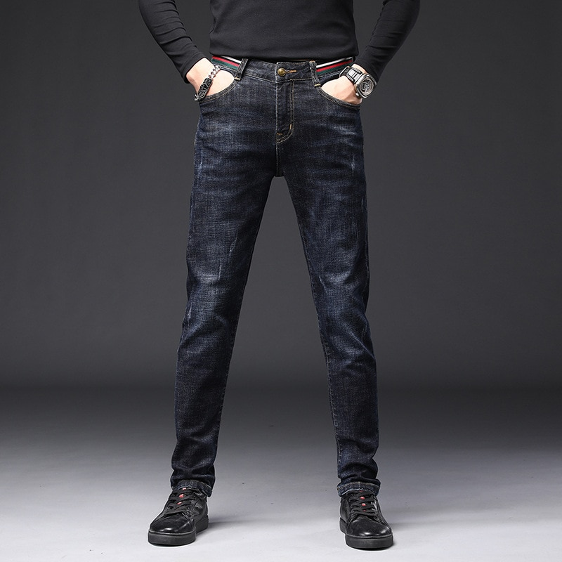 2021 New Men's Denim Blue All-match Casual Men's Jeans High Quality