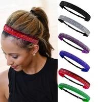 glitter headbands nonslip headbands sparkly girls headbands cute elastic headbands for women girl headband hair accessories