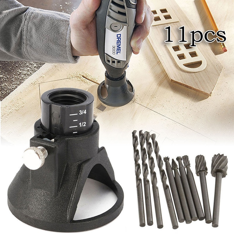 HSS Routing Router Drill Bits Set Dremel Carbide Rotary Burrs Tools Wood Stone Metal Root Carving Mi