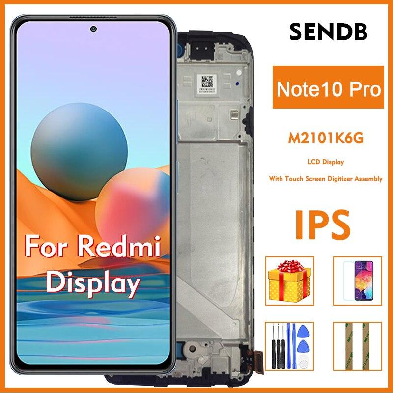 الأصلي ل شاومي Redmi نوت 10 برو 2021 M2101K6G 6.67