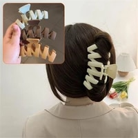 leopard print solid large hair claws elegant frosted acrylic hair clips hairpins barrette headwear women girls hair accessories