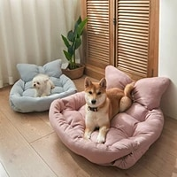 three in one bow knot pet nest dog cute backrest bed cat cushion medium and large dog sofa four seasons general