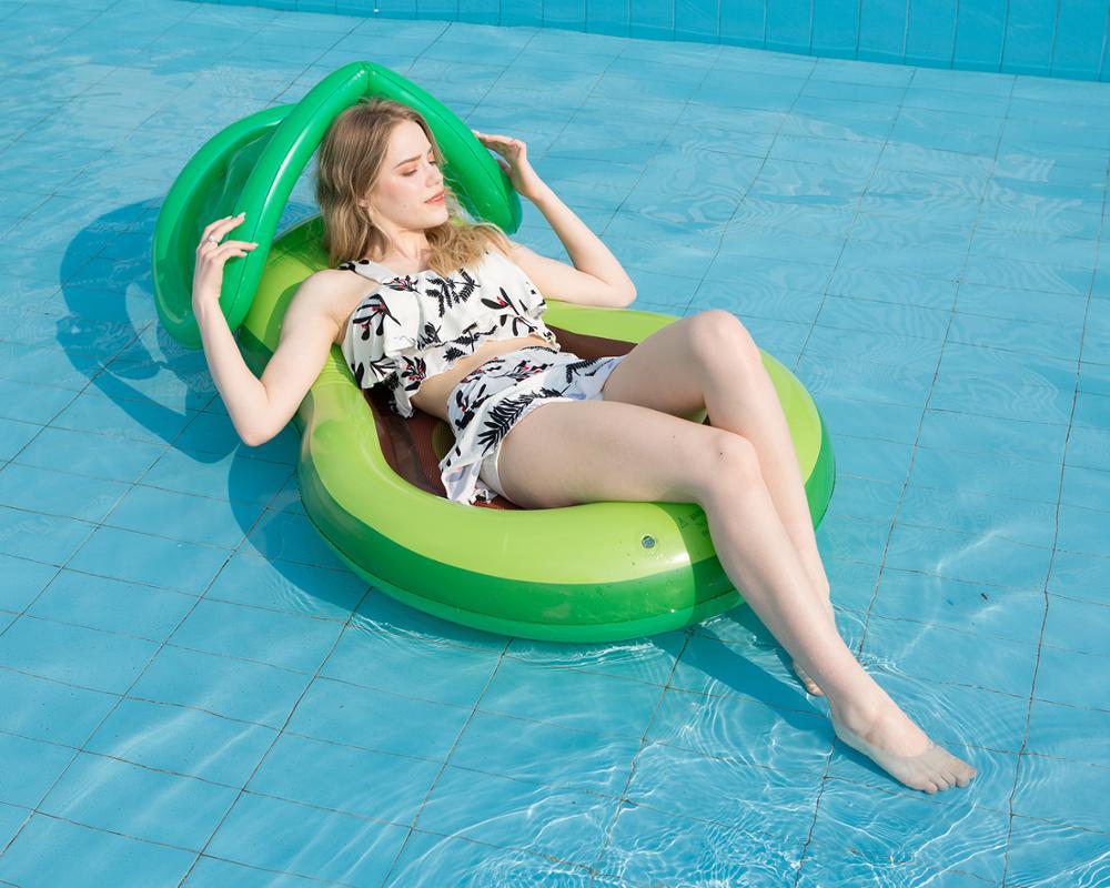 Inflable avocadoWater adulto reclinable red inflable flotante colchón de natación mar anillo Fiesta EN LA Piscina juguete lounge cama swi