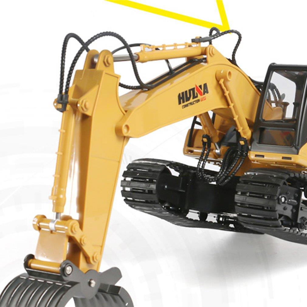 HUINA 1570 1:14 2.4GHz 16CH RC Alloy Log Grabbing Machine With Independent Arms 360 Degree Crawler Engineering Vehicle enlarge