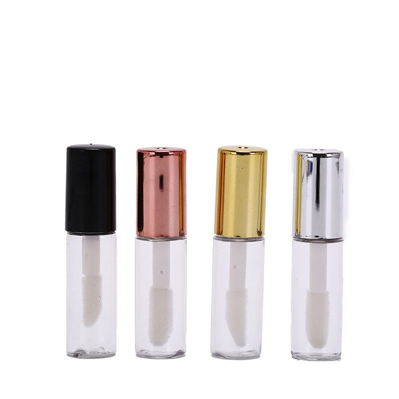 10Pcs/lot 1.2ml Empty Lipstick Bottle Lipgloss Tube Plastic DIY Lip Balm Tube Container With Cap Cosmetic Sample Container