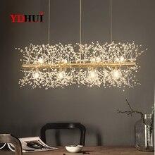 Flocon de neige lustre Style nordique lampe personnalité créative cristal modèle atmosphère lumière luxe salon éclairage