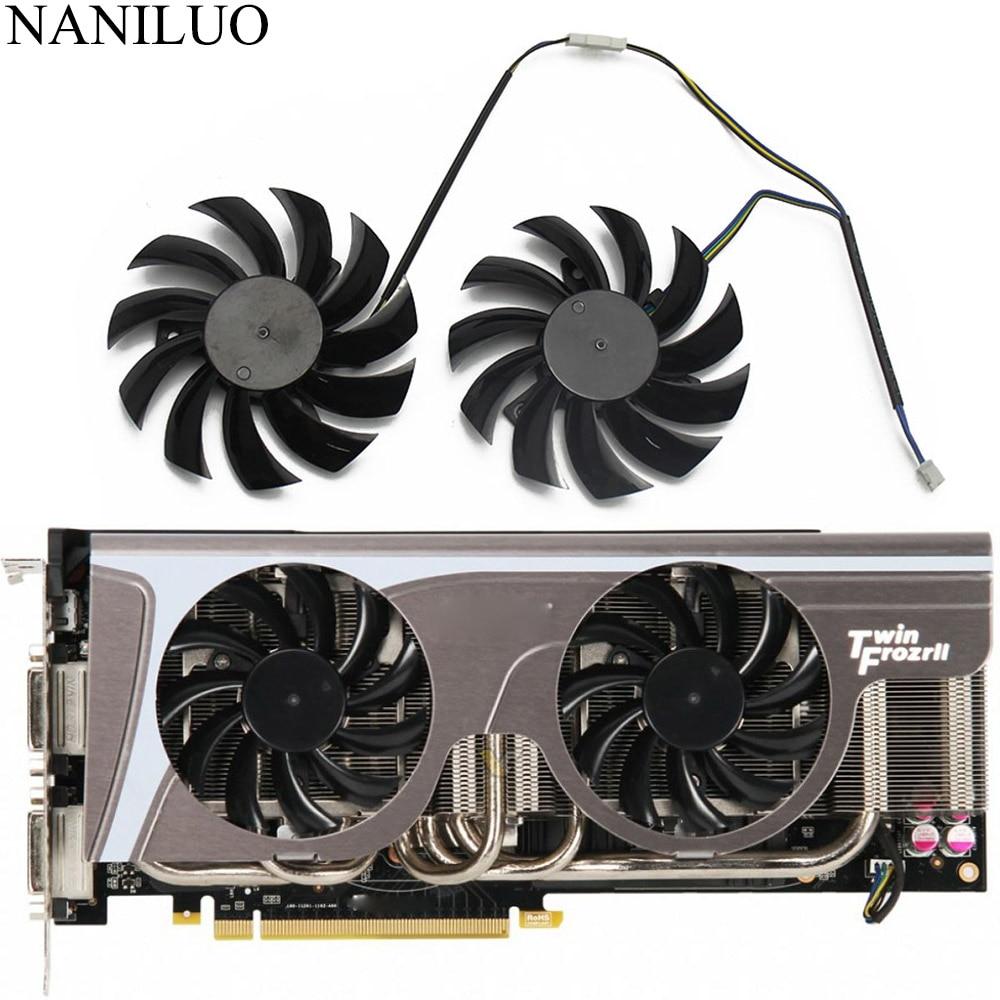 2 шт./лот Новинка 75 мм PLD08010S12HH 0.35A охлаждающий вентилятор ForMSI GeForce GTX 580/570/560/560Ti/480/465/460 GTX770 охлаждение для видеокарты вентилятор