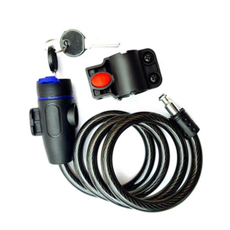 Противокражный спиральный стальной кабель, комбинированные аксессуары, велосипедные легкие грили, универсальный защитный велосипедный за...