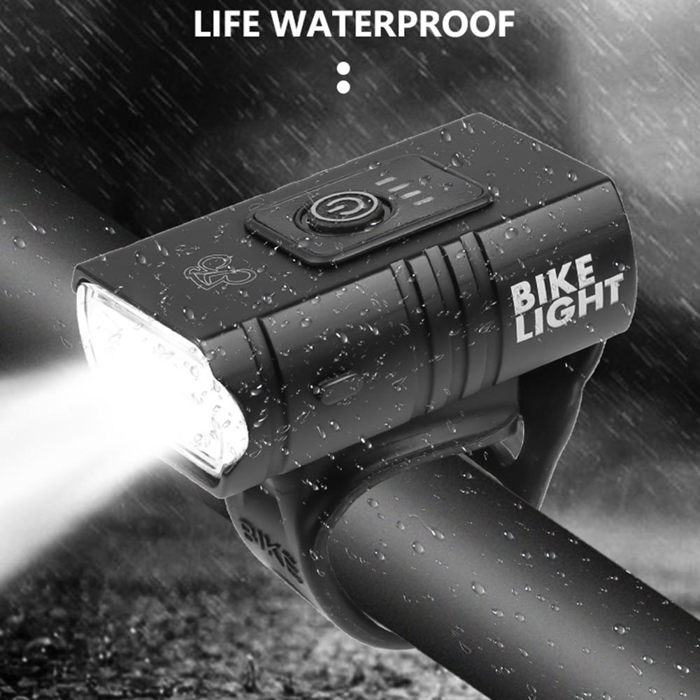 Luz delantera de la bicicleta LED 10W 6 modos USB recargable bicicleta de montaña de carretera lámpara frontal equipo de ciclismo impermeable